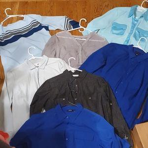 7 dress shirts 6 large and 1 xlarge